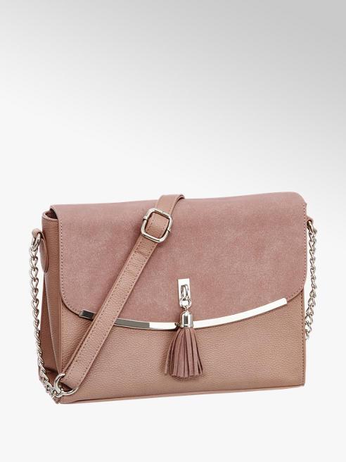 Graceland Roze schoudertas flosje