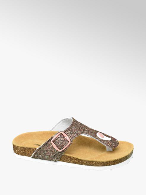 Graceland Roze slipper glitters