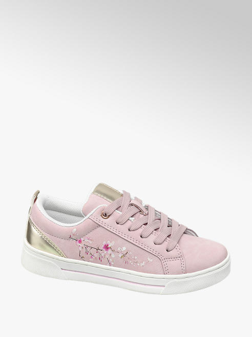 Graceland Roze sneaker vetersluiting