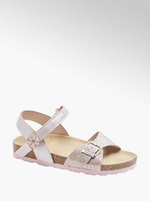 Graceland Sandalen in Rosa mit Metallic Optik
