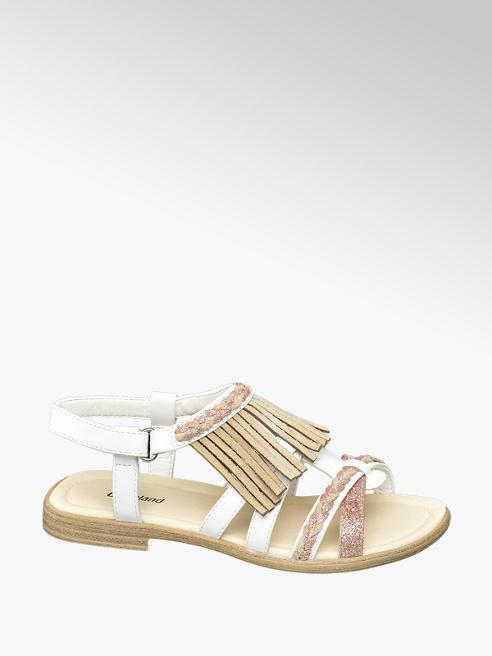 Graceland Sandalen in Weiß mit Glitzer-Details