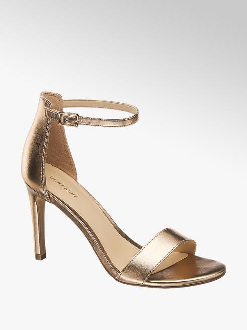 Graceland Sandaletten in Gold mit Fessel