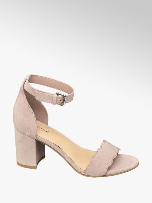 Graceland Light Pink Scallop Block Heels