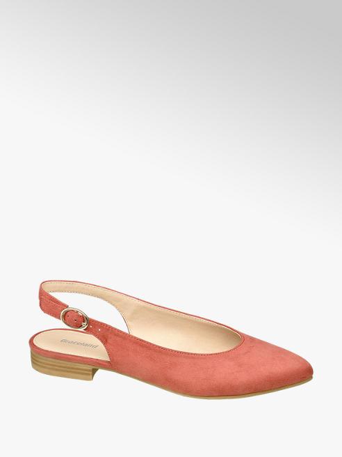 Graceland Sling Ballerinas in Rot