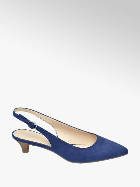 Graceland Sling Pumps in Blau