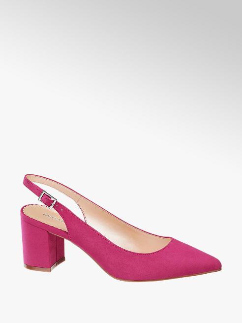 Graceland Sling Pumps in Pink