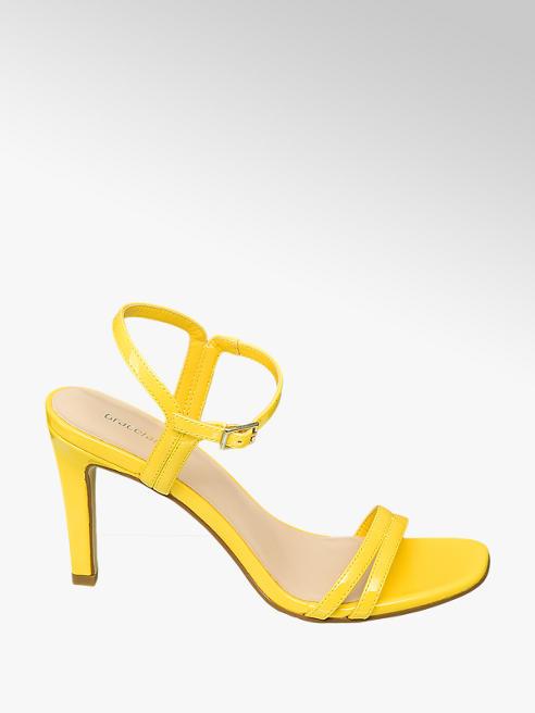 Graceland Sling Sandaletten in Gelb mit Fessel