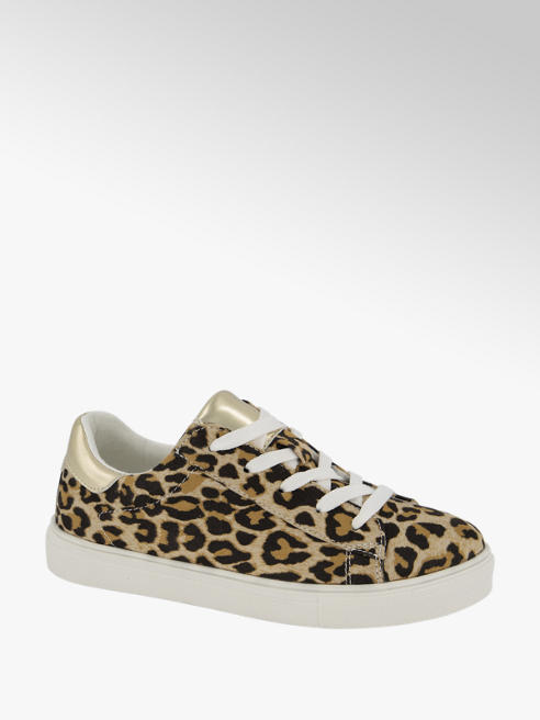 Graceland Sneaker in Beige mit Animal-Print