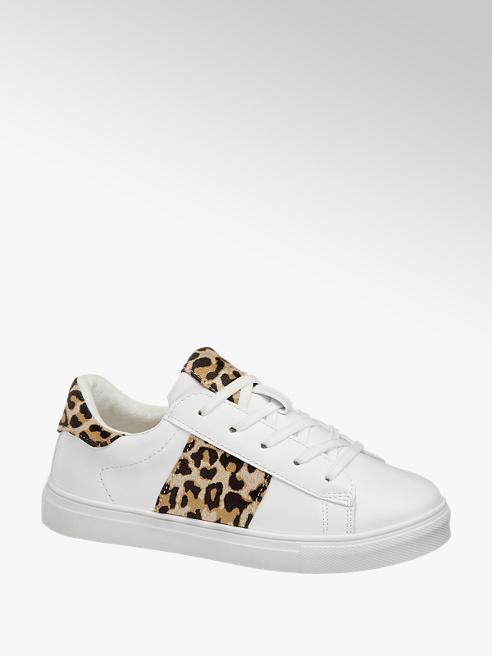 Graceland Sneaker in Weiß mit Animal-Print