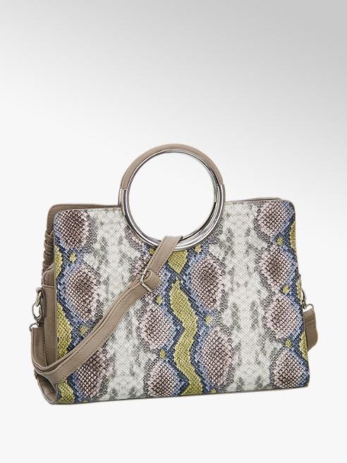 Graceland Taupe handtas slangenprint