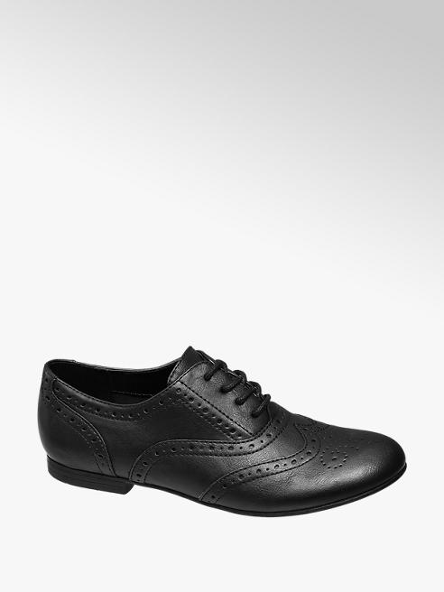 Graceland Teen Girl Black Brogues