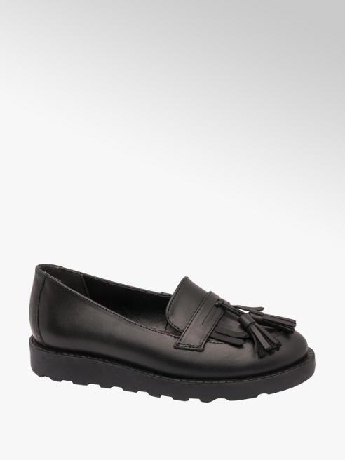 Graceland Teen Girl Leather Chunky Tassel Loafers