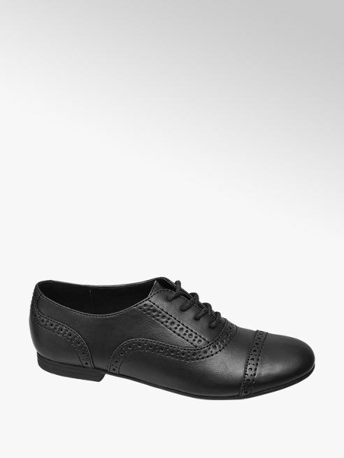 Graceland Teen Girl Black Lace Up Brogues
