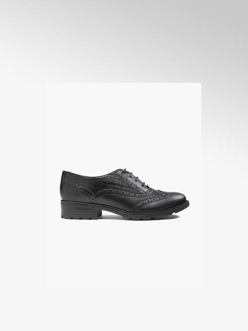 Graceland Teen Girl Black Cleated Brogues