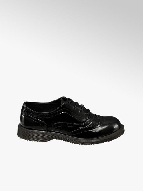 Graceland Teen Girl Black Patent Brogues