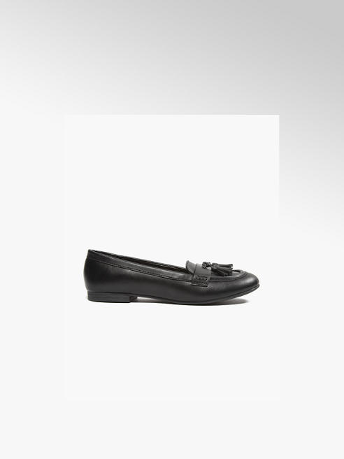 Graceland Teen Girl Black Tassel Loafers