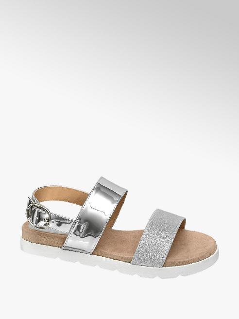 74da3987e0a Graceland Teen Girls Chunky Footbed Sandals Silver