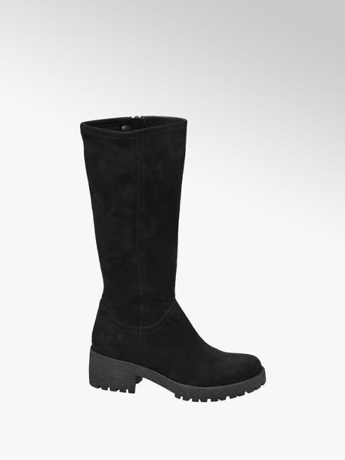 Graceland Teen Girls Black Chunky Long Leg Boots