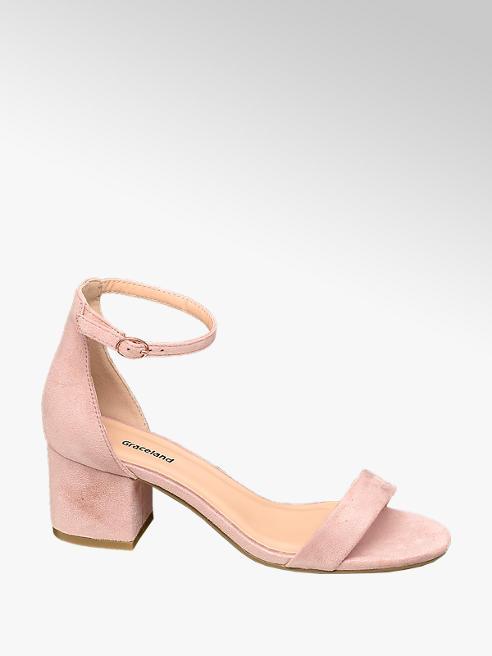 Graceland Teen Girls Nude Pink Heeled Shoes (Larger Sizes)
