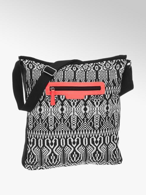 Graceland Umhängetasche in Schwarz-Weiß