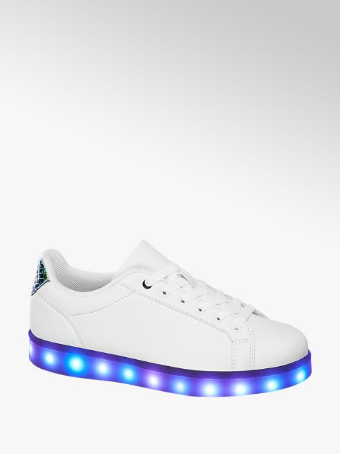 Graceland Witte Led sneakers
