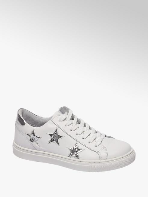 Graceland Witte leren sneaker sterren
