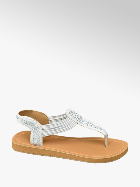 Graceland Witte sandaal siersteentjes