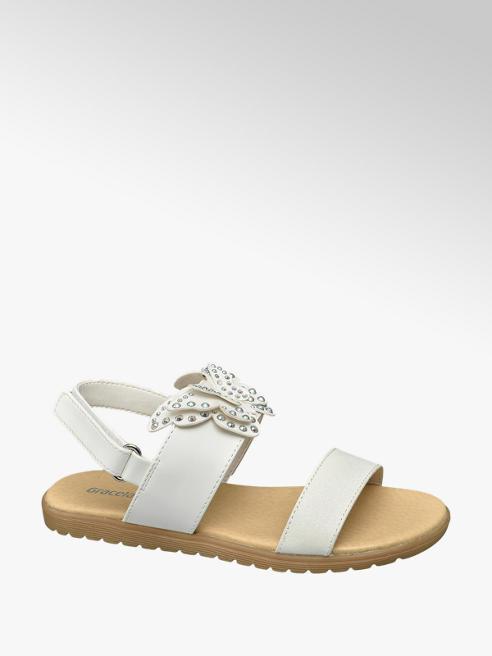Graceland Witte sandaal vlinder