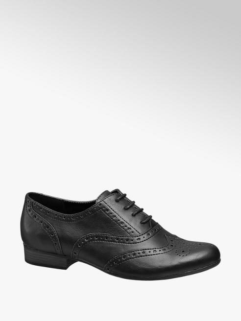 Graceland Black Lace-up Brogues