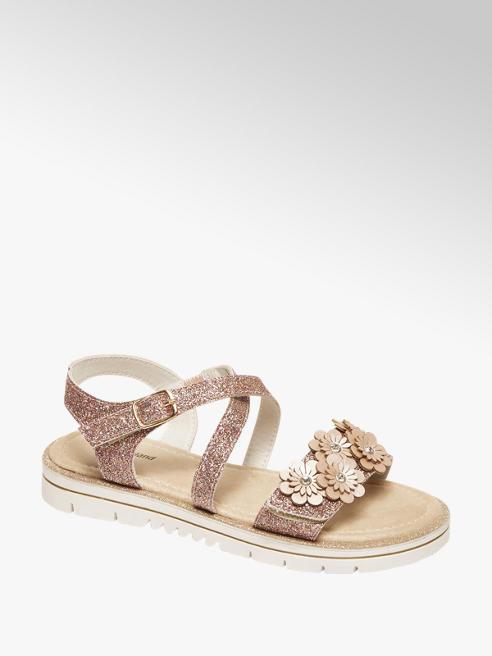 Graceland Zalmroze sandaal glitters