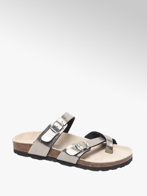 Graceland Zilveren sandaal gesp
