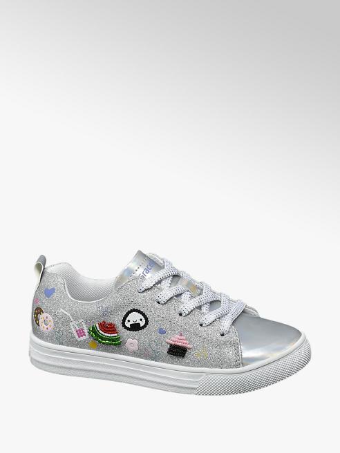 Graceland Zilveren sneaker glitters