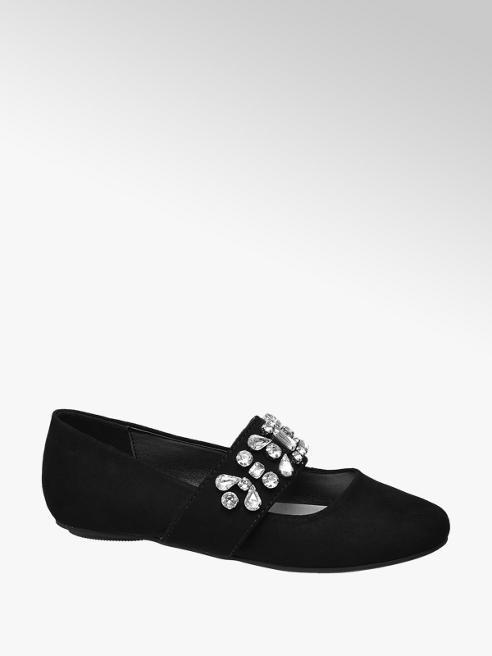 Graceland Zwarte ballerina stenen