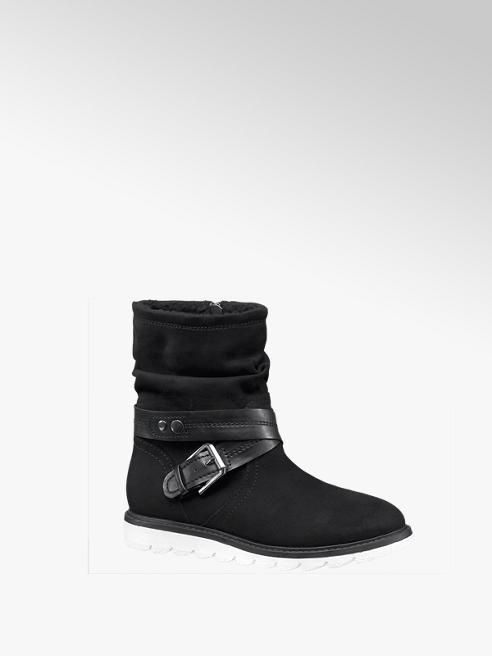 Graceland Zwarte boot sportieve zool