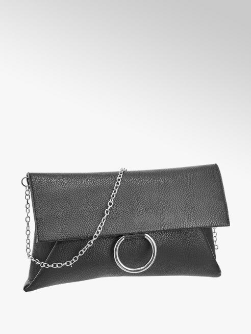 Graceland Zwarte clutch zilveren ring