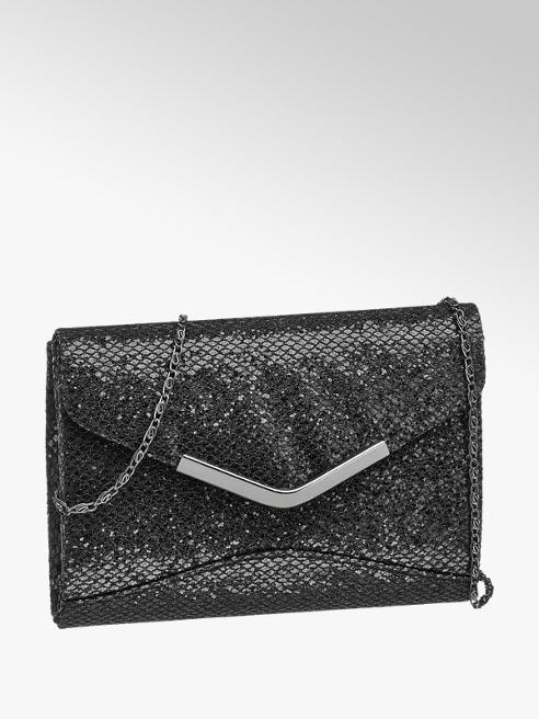Graceland Zwarte glitter schoudertas