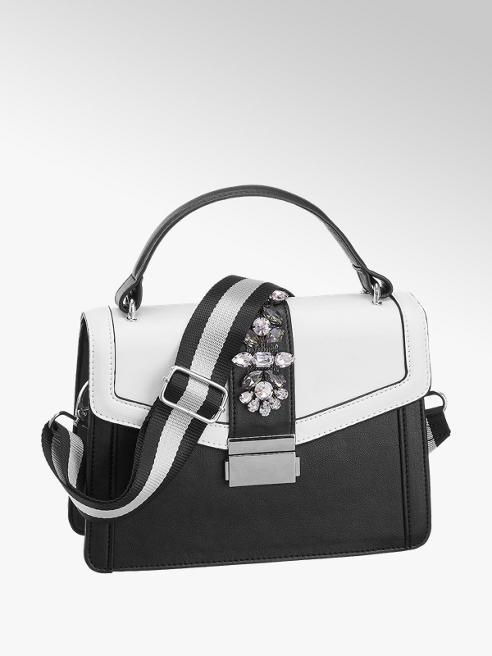 Graceland Zwarte handtas strasstenen