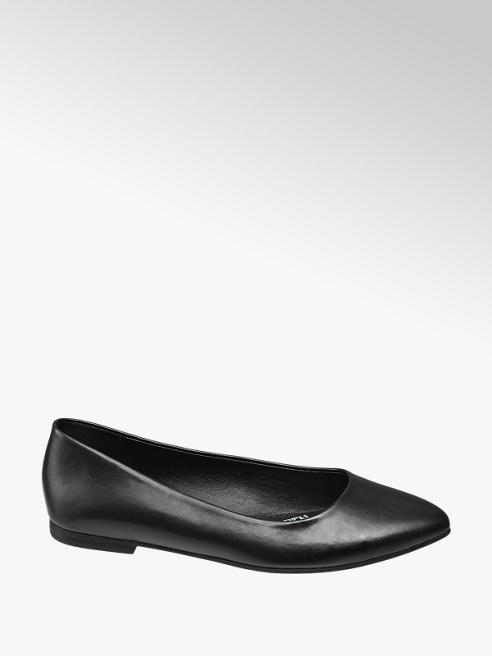 Graceland Zwarte loafer gespitste neus