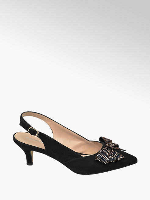 Graceland Zwarte pump strik