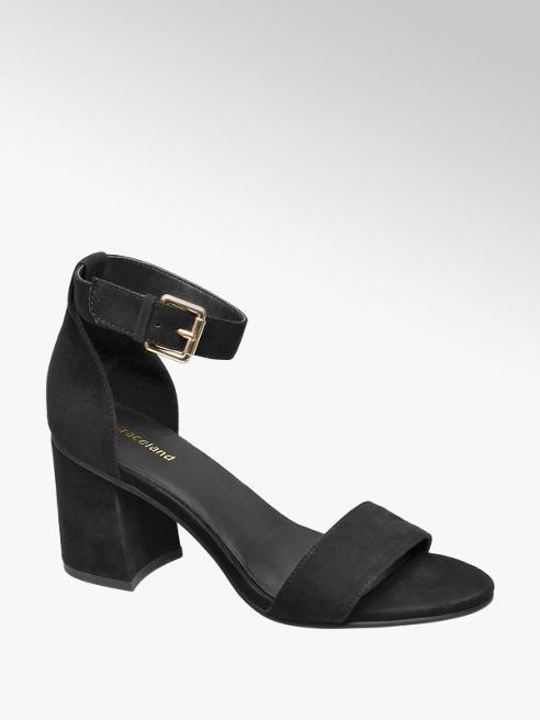 Graceland Zwarte sandalette gespsluiting