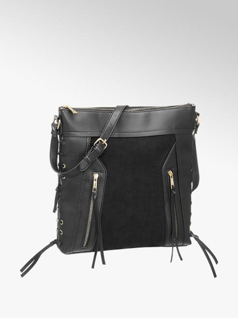 Graceland Zwarte schoudertas ritsen