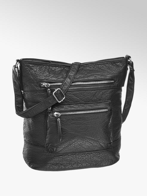 Graceland Zwarte schoudertas voorvakken