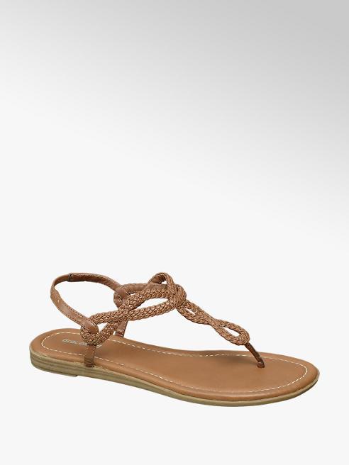 Graceland Bruine sandaal geweven