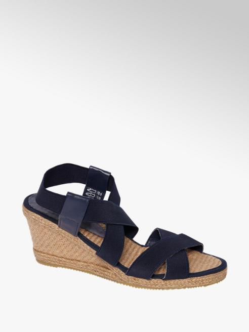 Graceland Donkerblauwe sandalette elastiek