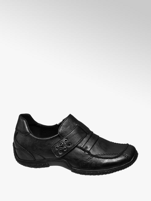 Graceland Ladies Black Slip On Casual Shoes