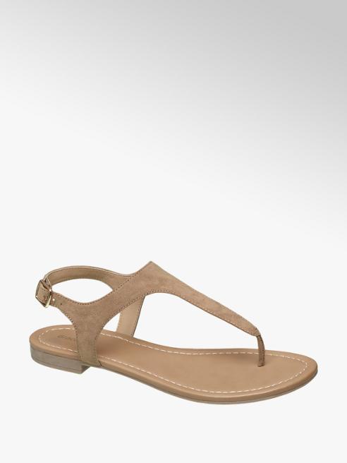 Graceland Lichtbruine sandaal gespsluiting