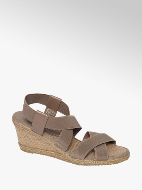 Graceland Lichtbruine sandalette elastiek