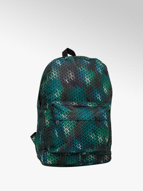 Green Geo Print Backpack