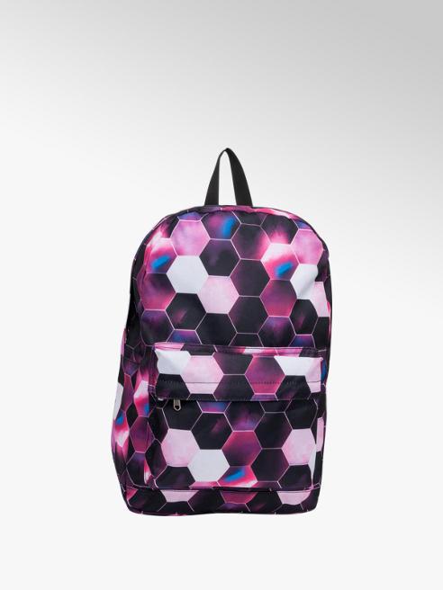 Hexagon Print Backpack