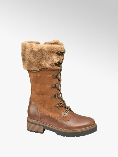 Highland Creek Gefütterte Stiefel in Braun mit Fake-Fur